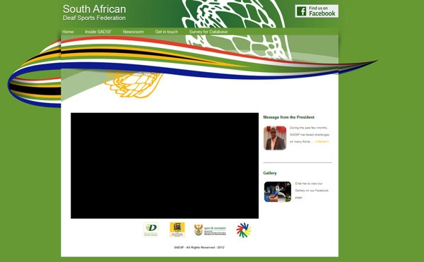 South African Deaf Sports Federation Website