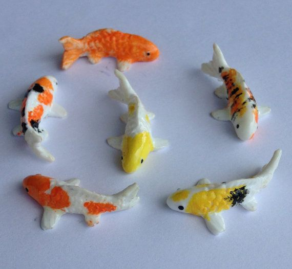 miniature koi fish for fairy garden or miniature by