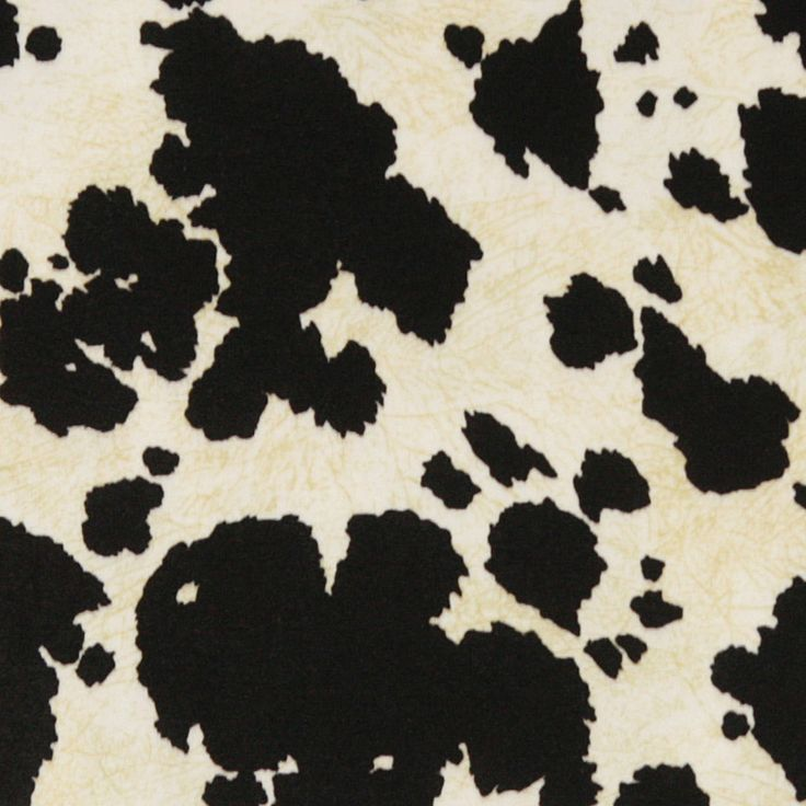 Black cow print fabric for upholstery! <3