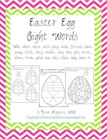 Free Easter Egg Sight WordsSight Words, Free Easter, Eggs Sight, Dolch Easter, Easter Theme, Easter Eggs, Classroom Ideas, Month Ideas April, Dolch Sight
