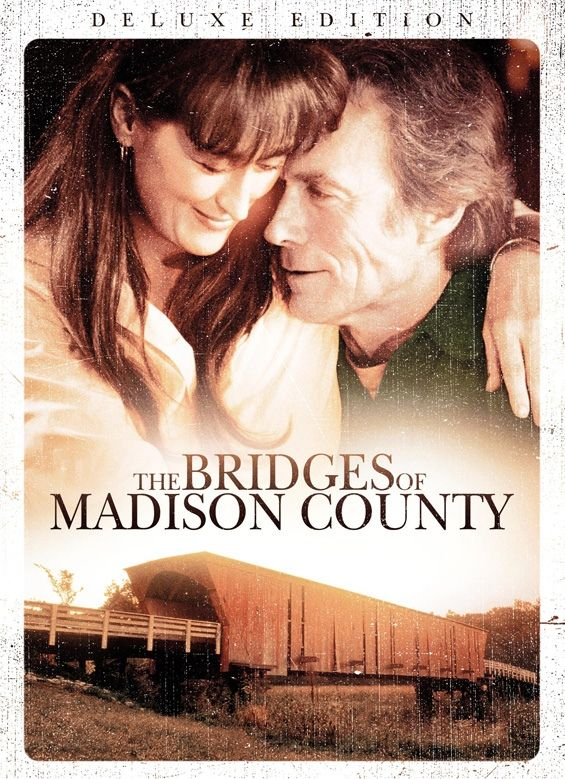 Bridges of Madison County (1995) Photographer Robert Kincaid wanders into the life of housewife Francesca Johnson, for four days in the 1960s. Clint Eastwood, Meryl Streep, Annie Corley...33