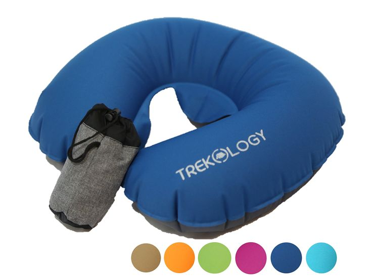 trekology ultralight travel neck air pillows for airplane compact head and neck support pillow