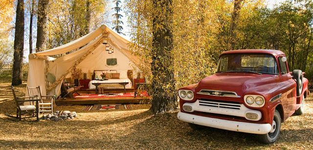 If It's Hip, It's Here: Glamping. Forget Roughing It, Camp ...
