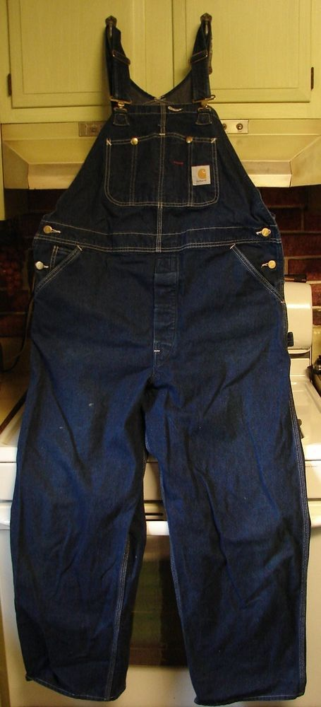 Carhartt Bib Overalls Lightweight Blue Denim Carpenter No Tags 44/29 I Think #Carhartt #CarpenterBibOveralls