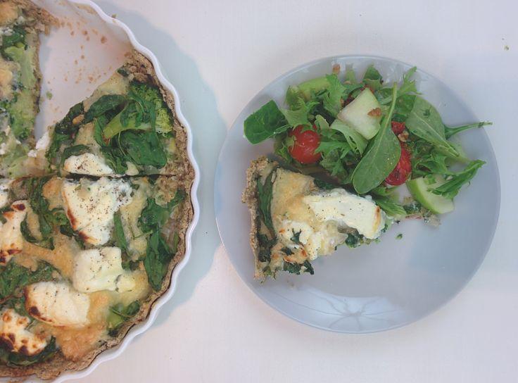 Healthy, foolproof broccoli quiche met basilicumkorst (GF)