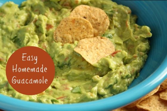 homemade guacamole - happy hooligans - easiest, best guacamole recipe, tip to not turn brown, tip to schmooze ripe not rotten