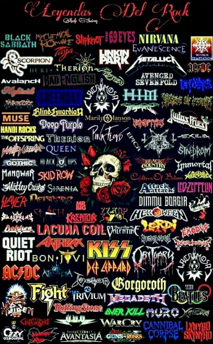 Картинки с надписями рок групп, окружающей