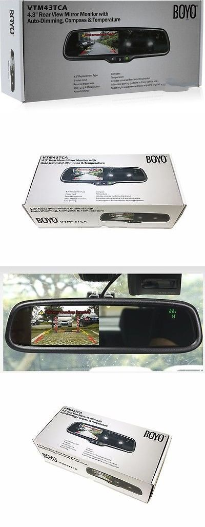 Rear View Monitors Cams and Kits: Boyo Vision Vtm43tca 4.3 Rear View Mirror Monitor W Auto-Dimming, Compass,Temp -> BUY IT NOW ONLY: $209.99 on eBay!