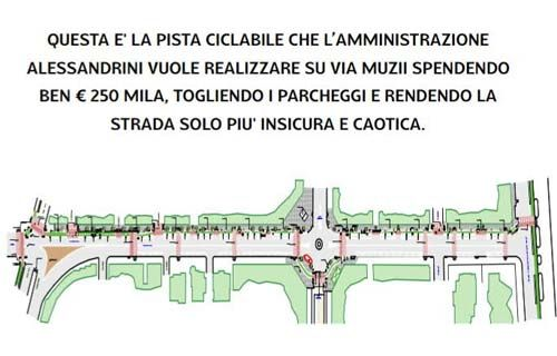 Pescara pista ciclabile via Muzii: sondaggio del centro-destra