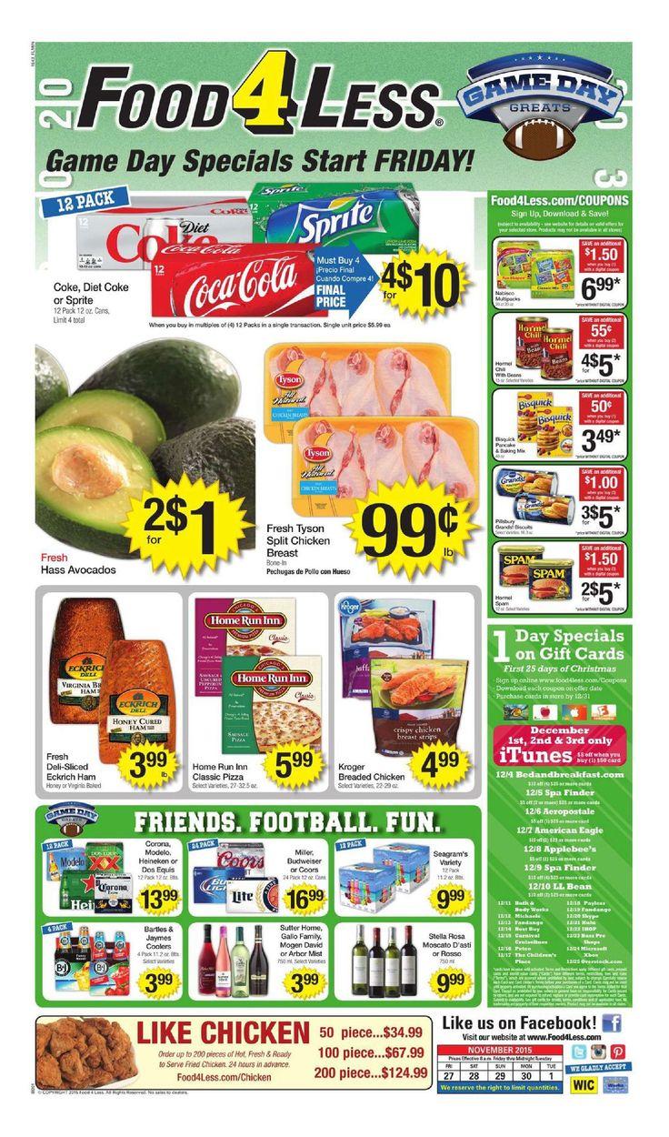 Food 4 less weekly ad november 27 december 1 2015