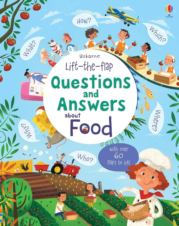 Lift-the-flap questions and answers about food New for November