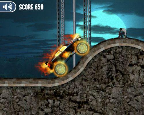 Carro en el fuego destruye zombies