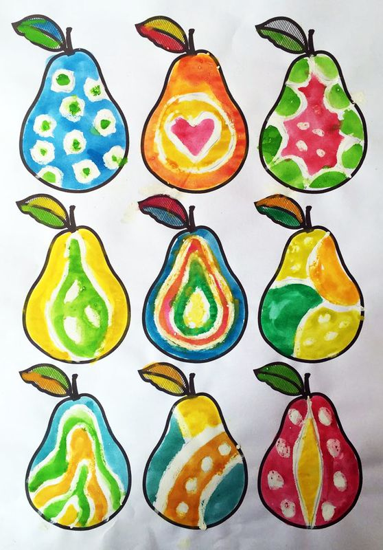 The ImaginationBox: free printable pears template - these were decorated using…