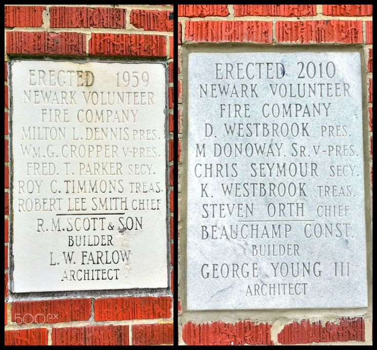Dates of the Newark, MD Volunteer Fire Company I'm