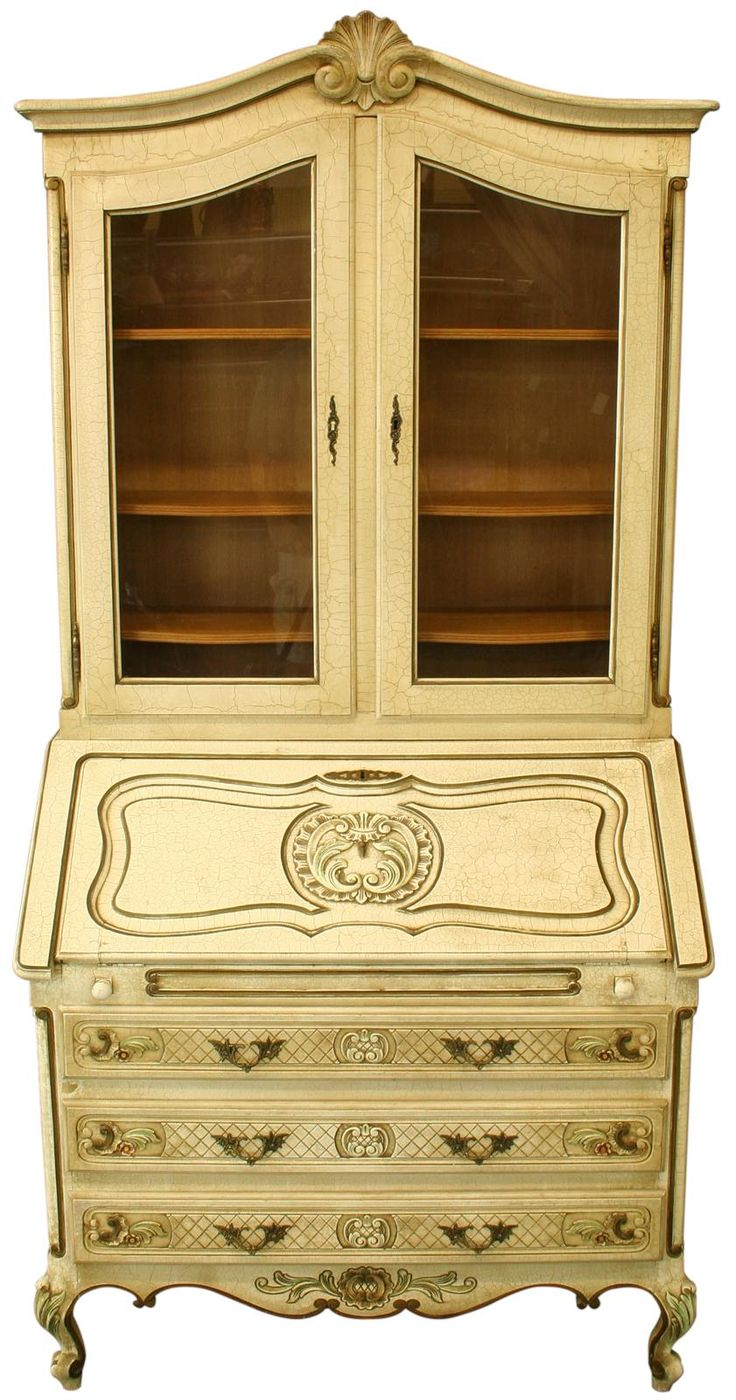 french country secretaire writing desk louis xv finish gold paint on drawers