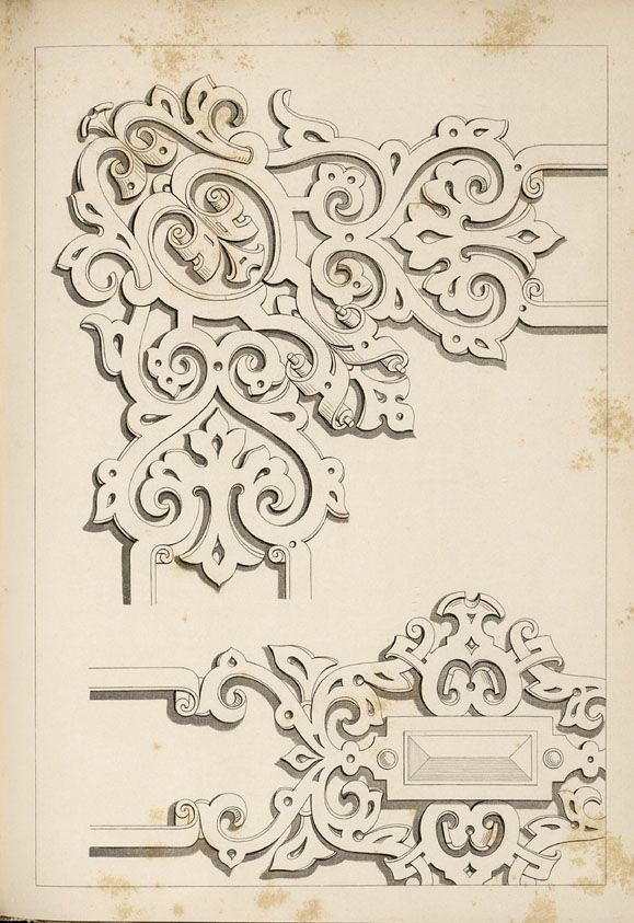 1840 - Arrowsmith, Henry William / The house decorator and painter's guide; containing a series of designs for decorating apartments, suited to the various styles of architecture