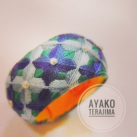 高原 曄子先生の模様を参考に作りました。 可愛い~(*^^*) #加賀ゆびぬき #加賀のゆびぬき #ゆびぬき