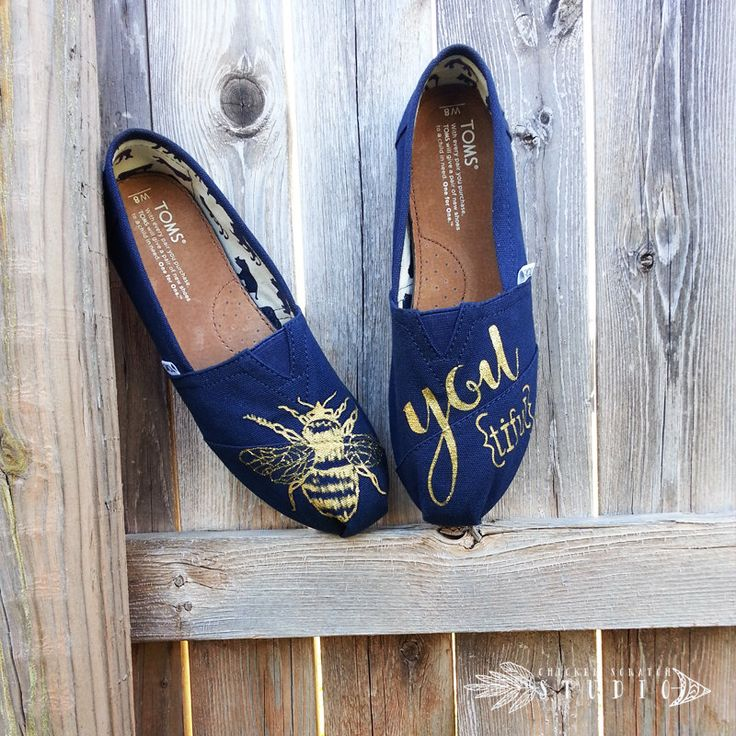 Custom Hand Painted Bee-You-tiful Canvas TOMS Shoes | FREE SHIPPIN | bumble bee | inspirational shoes | glitter shoes | gift | graduation by HopeTodayStudio on Etsy https://www.etsy.com/listing/227402277/custom-hand-painted-bee-you-tiful-canvas