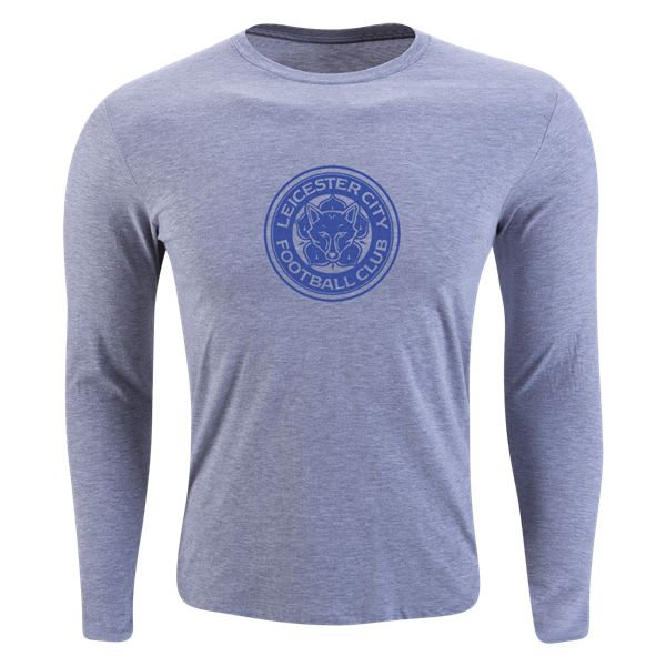 Leicester City FC Long Sleeve Supersoft T-Shirt (Gray)