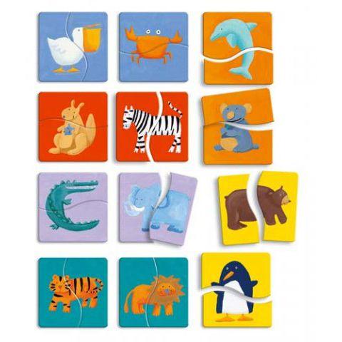 Пазл Разноцветные животные