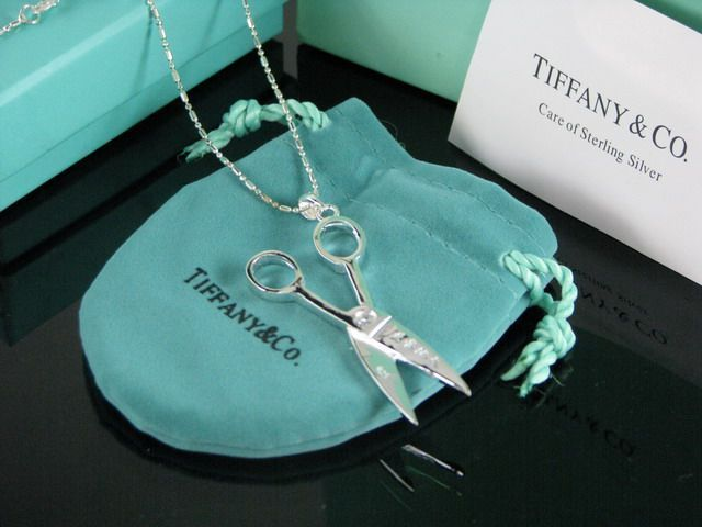 Tiffany Scissors Pendant Necklaces! Love this!! Perfect for a cosmetologist!