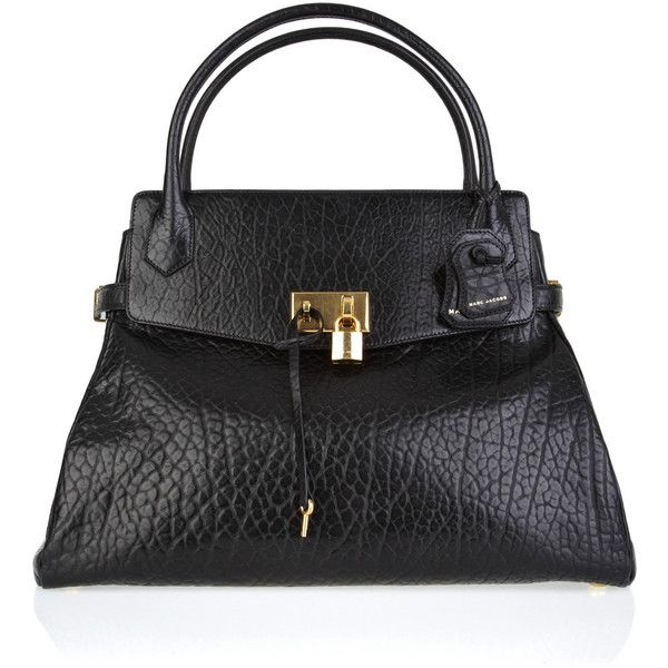 Marc Jacobs Camille large leather tote ($1,215) ❤ liked on Polyvore featuring bags, handbags, tote bags, purses, bolsas, borse, women, marc jacobs tote, leather handbag tote and man tote bag