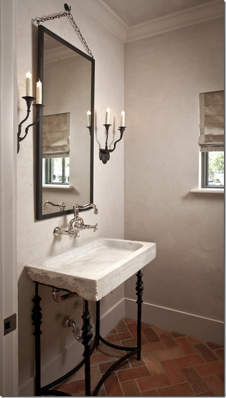 That Pedestal Sink!!!! The Mirror!! The Wall Mounted Faucet.