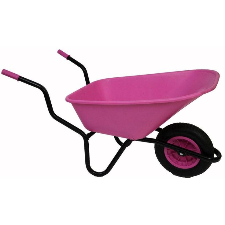 Bullbarrow Bronco Plastic Wheelbarrow - Pink - 110 litre pan - Heavy duty