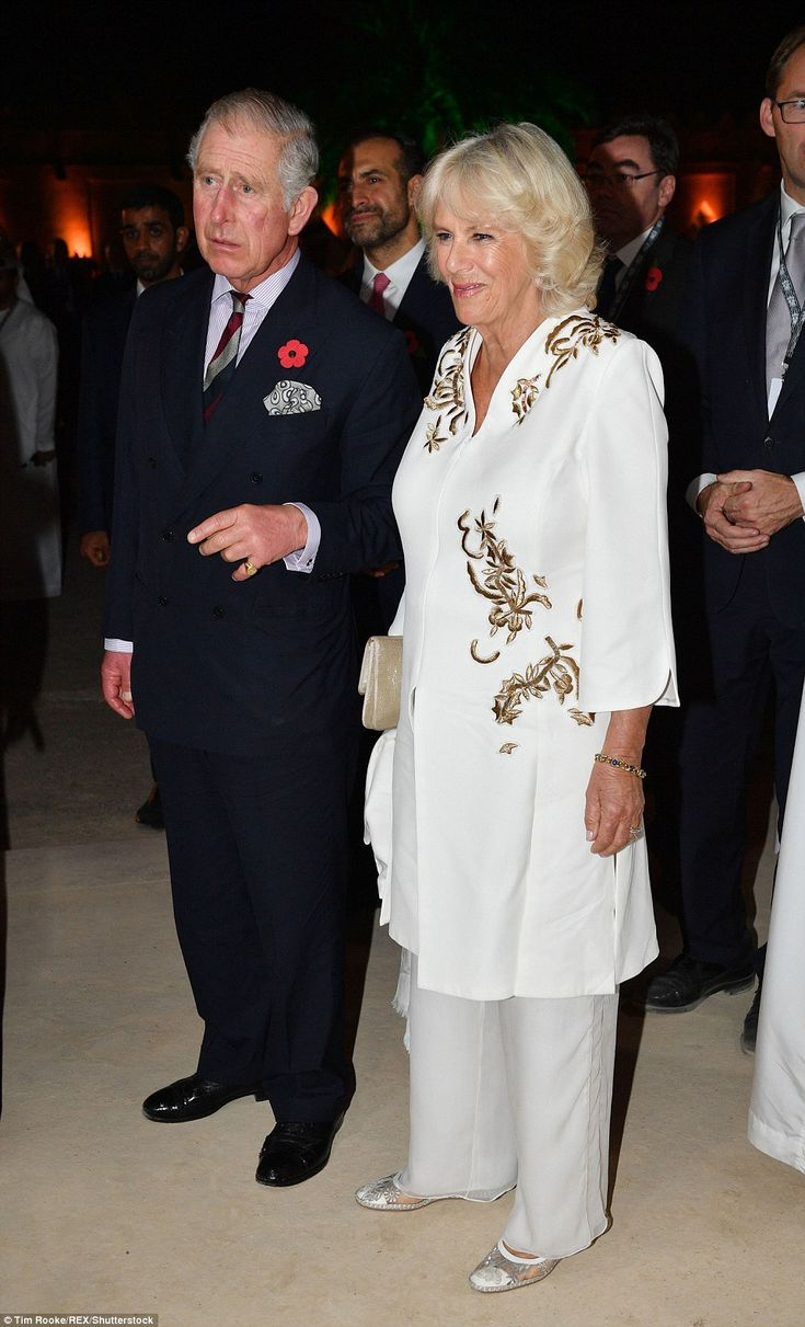 Night on the town! Despite their hectic schedule Prince Charles and Camilla appeared to be full of energy as they attended a glittering event on in Abu Dhabi Monday night
