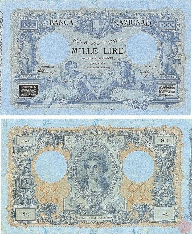 1000 LIRE - Nuovo Tipo - N° 17