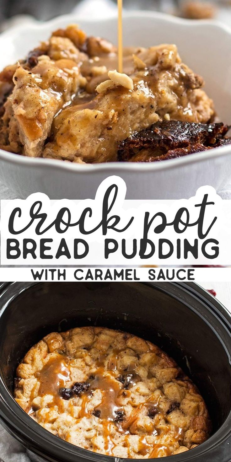 Mar 26, 2020 – This slow cooker bread pudding with cranberries and walnuts is served with a homemade caramel sauce – it'…