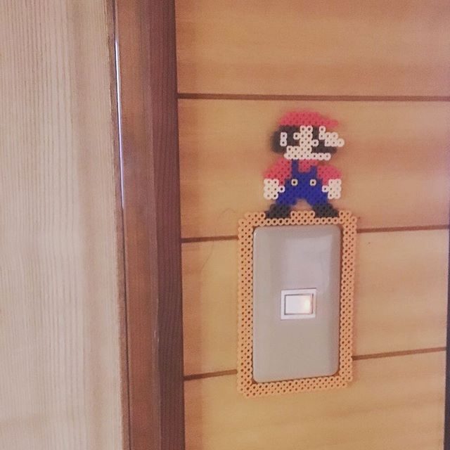 Mario light switch frame perler beads by hachicco123