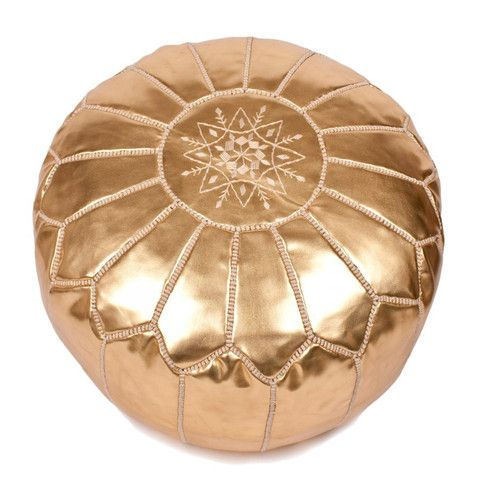 Moroccan Pouf - Gold/white Lounge