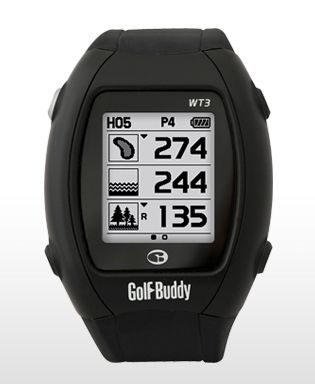 Golf Buddy WT3 - GPS Watch - Golf Range Finder  This unique Golf GPS Watch features simple press-and-hold buttons and lets you utilize Dynamic Green View and Pin Placement.