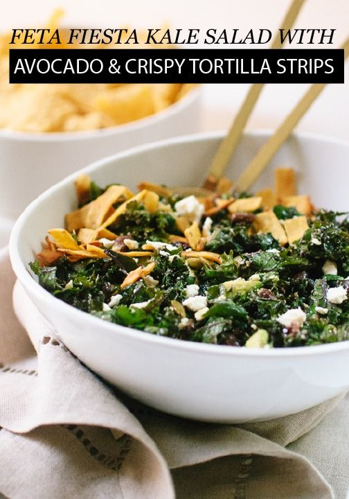 Savory and satisfying, this Feta Fiesta Kale salad is a delicious way to kick off your next girls' night dinner at home.