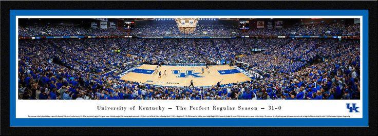 Kentucky Wildcats Basketball Panoramic - The Perfect Regular Season - Rupp Arena Picture