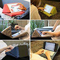 Amazon.com: IPEVO PadPillow Stand for iPad Air & iPad 4/3/2/1Nexus/Galaxy - Blue Denim (MEPX-07IP): Computers & Accessories