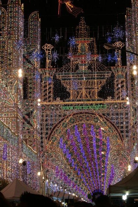 Sept.16th-19th, 2014 - Festa del patrono a Copertino (Apulia) - Luminarie Mariano Light - decoration for religious events and festivals.