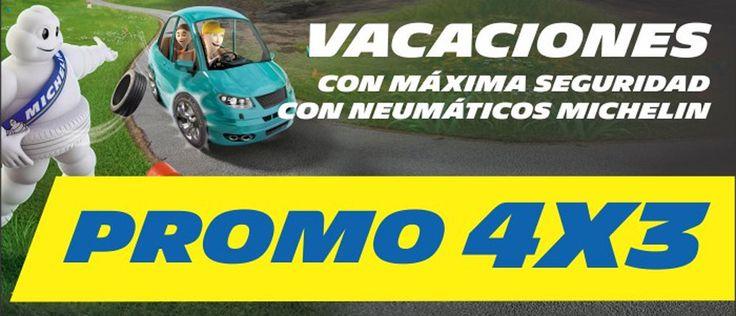 Promo 4×3! Llevando 4 neumáticos MICHELIN, pagas solo 3     La Promoción abarca para neumáticos nuevos de auto y camioneta 4×3 en todo el territorio de la República Argentina excluídos neumáticos de i... http://sientemendoza.com/2016/11/16/promo-4x3-llevando-4-neumaticos-michelin-pagas-solo-3/