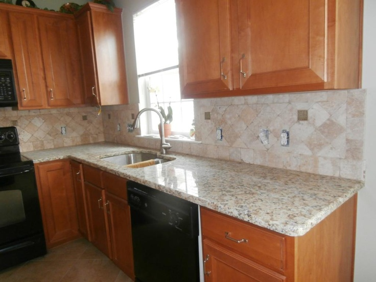 Giallo Napoli Granite Countertops Installed In Charlotte NC 5 10 13  Http://www · Colored Kitchen CabinetsWood ...