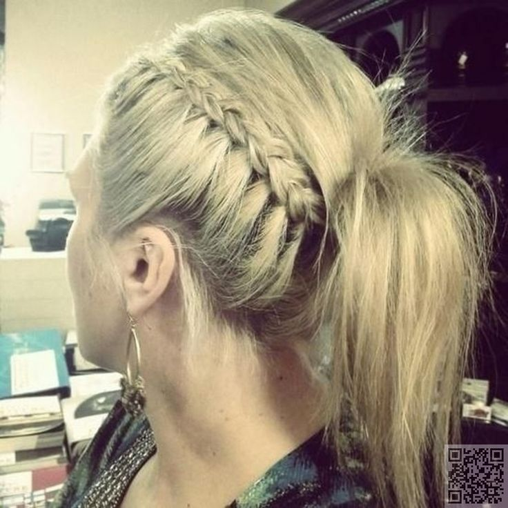 6. Side #Braid & Ponytail - 29 Ways to #Spice up Your Ponytail ... → Hair #Weave
