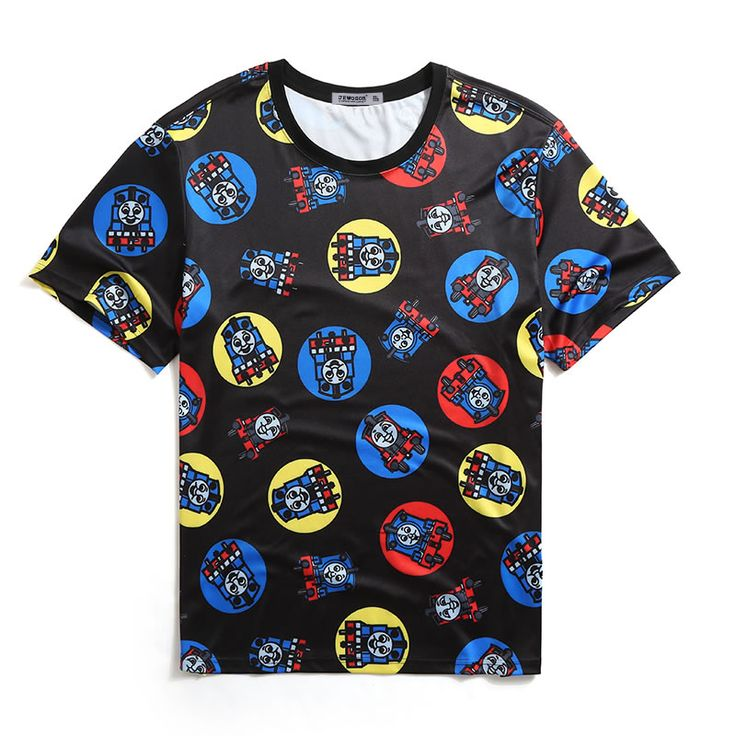 Men's T-shirt 2017 Summer Brand Clothing Hip hop Print Cartoon Top Male Cotton England T-shirt Plus Size Blouses Tee for Boy *** This is an AliExpress affiliate pin.  Details on product can be viewed on AliExpress website by clicking the image