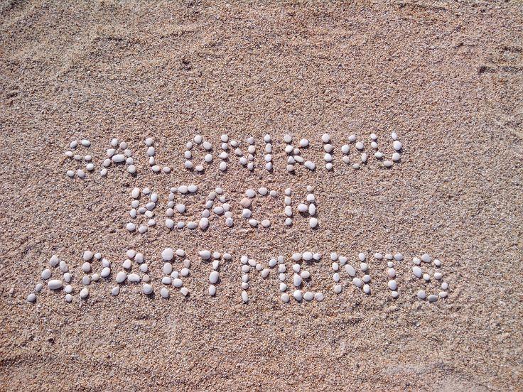 Written on the sand