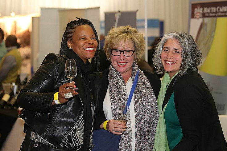 Allana Finley, Melissa Ford and Kathy Viscardi enjoy the celebrations at the 10th TOPS at SPAR Soweto Wine and Lifestyle Festival.