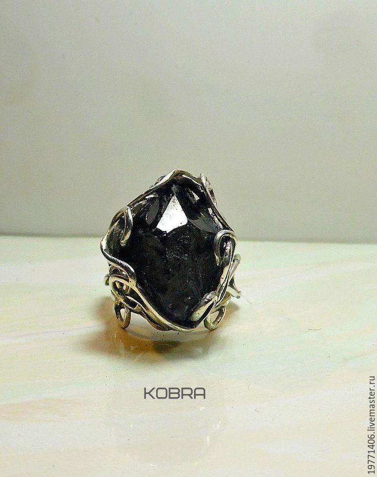 Купить Кольцо с морионом Черный Принц - черный, кольцо, колье ручной работы, кольцо с камнем