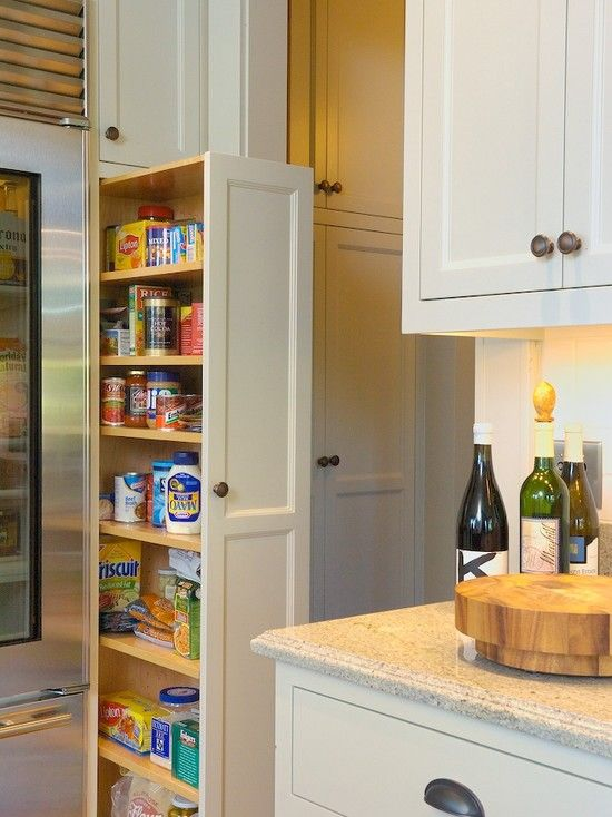 17 best images about cabinet pull outs on pinterest corner cabinets spice drawer and hampers - Small space pantry minimalist ...