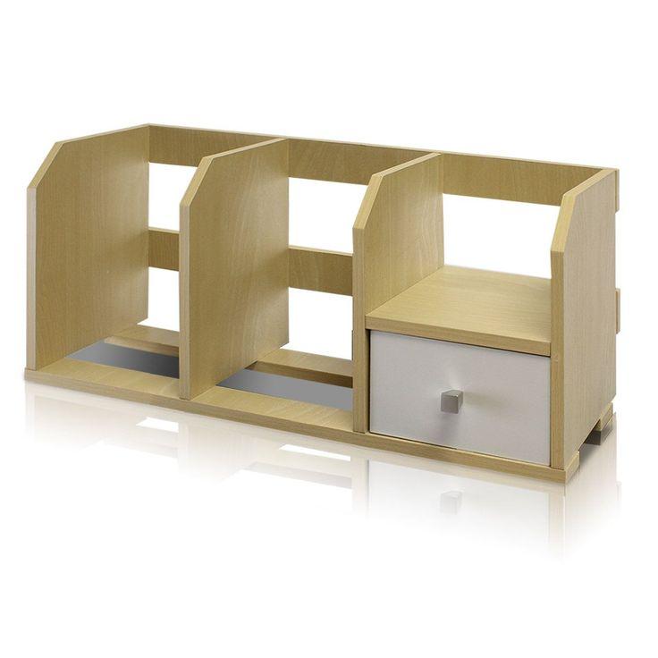 Furinno Pasir Desk Storage Shelf with Bin