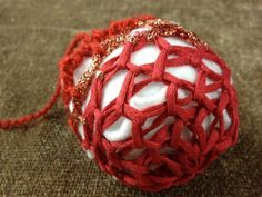 Loom Knit Decorative Ball or Ornament for the Holiday - GoodKnit Kisses