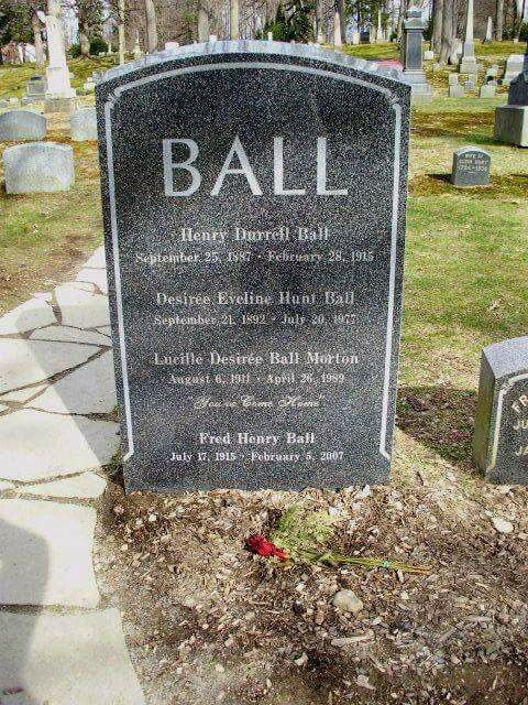 Lucille Ball Interred At Her Family S Burial Plot In Lake