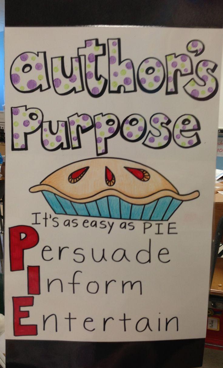 best author s purpose images teaching ideas  authors purpose